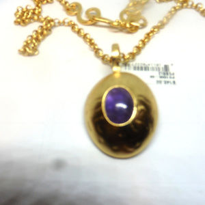 Stephanie Kantis Pebble Amethyst Cabochon Necklace